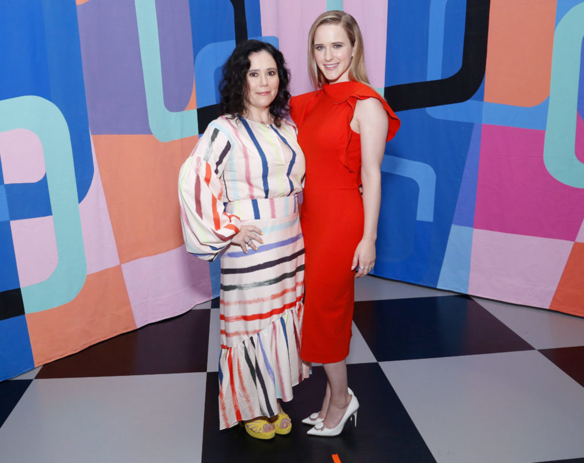 Alex Borstein and Rachel Brosnahan (Photo by Lars Niki/Getty Images for Amazon Studios and The Marvelous Mrs. Maisel )