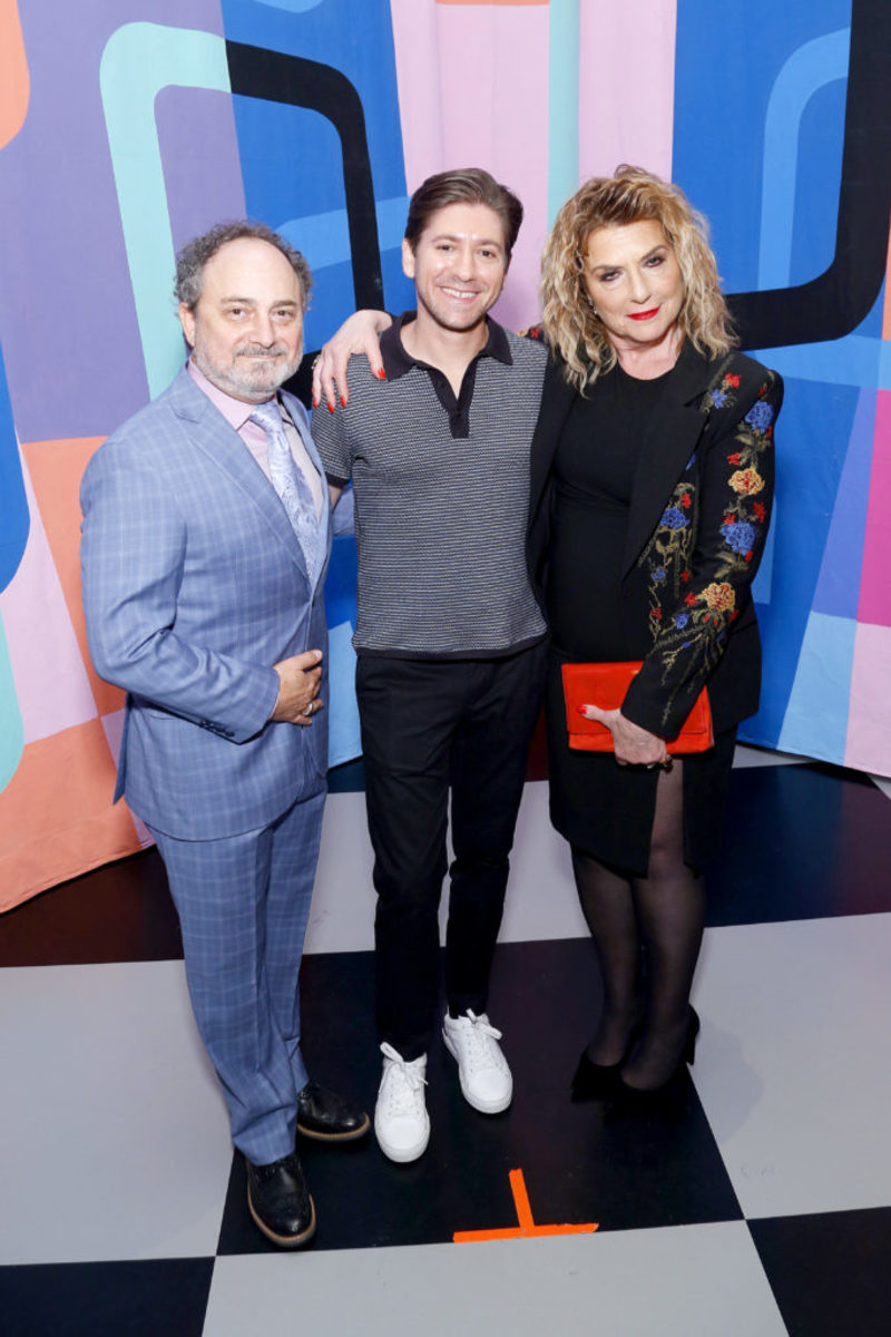 Kevin Pollak, Michael Zemen, Carolyn Aaron. (Photo by Lars Niki/Getty Images for Amazon Studios and The Marvelous Mrs. Maisel )