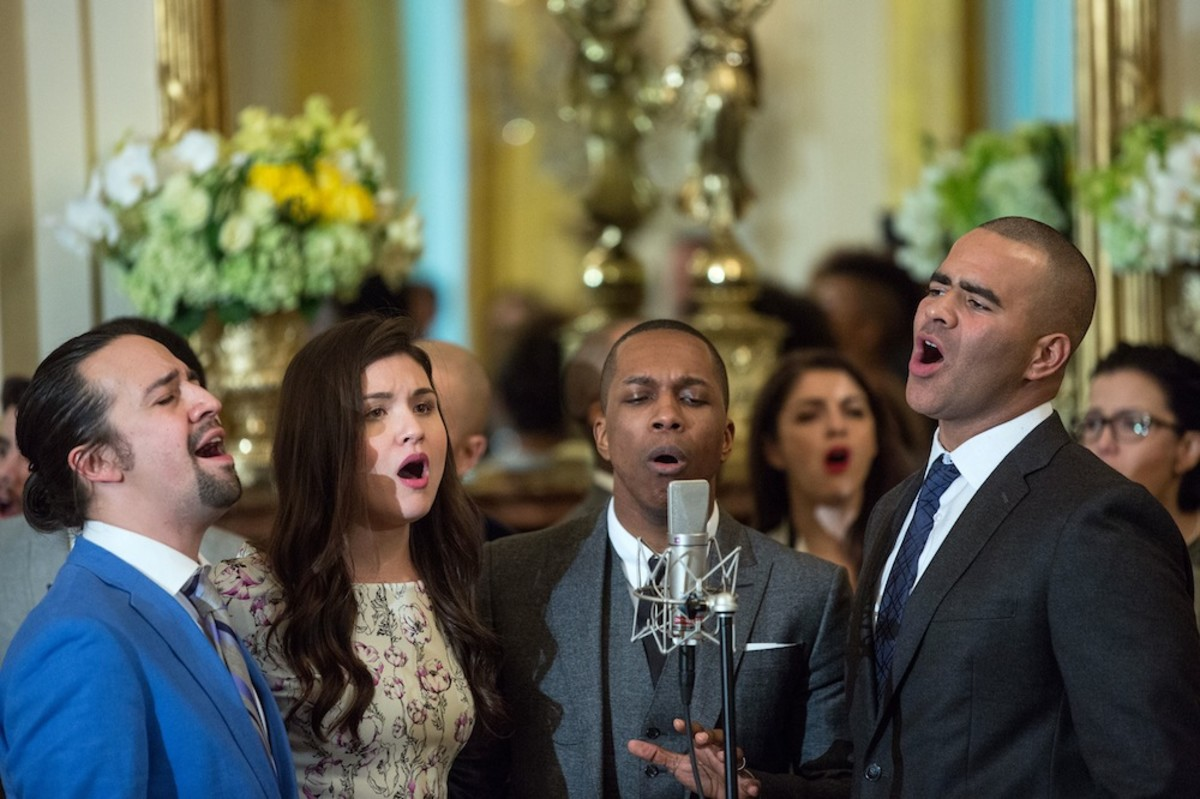 Cast members from HAMILTON perform at the White House