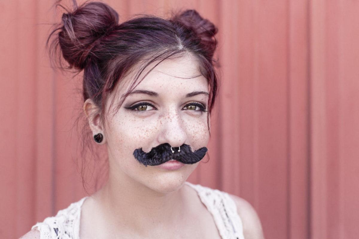 woman in mustache
