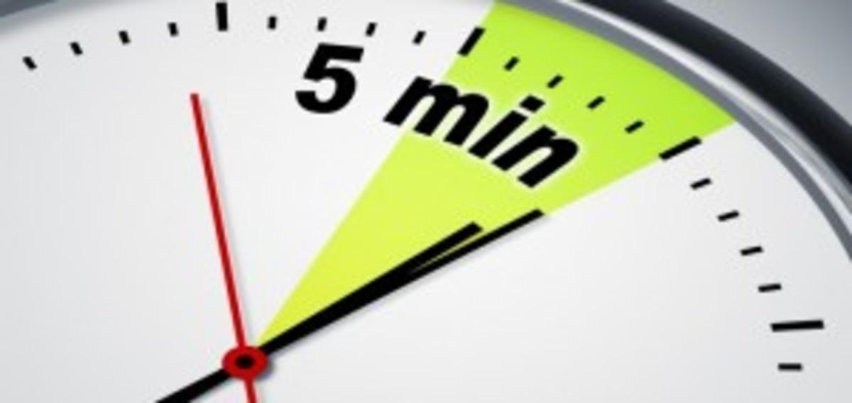 5 minute rule