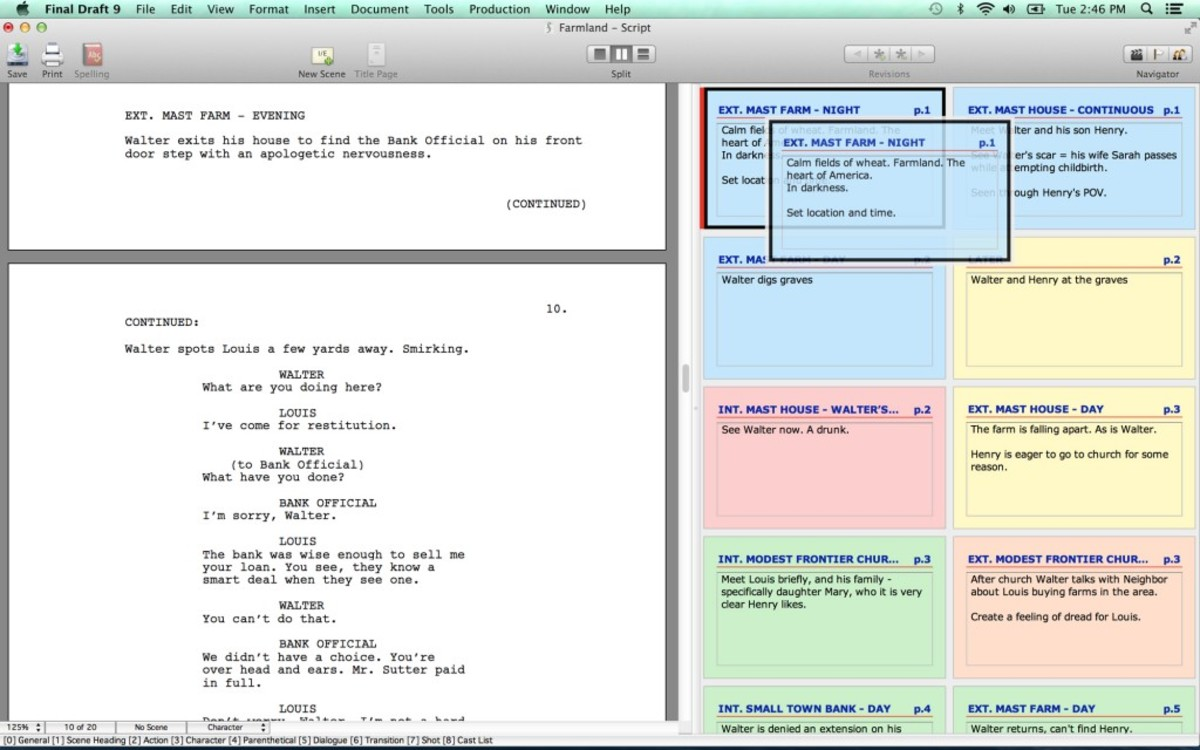 Index Cards view on Mac