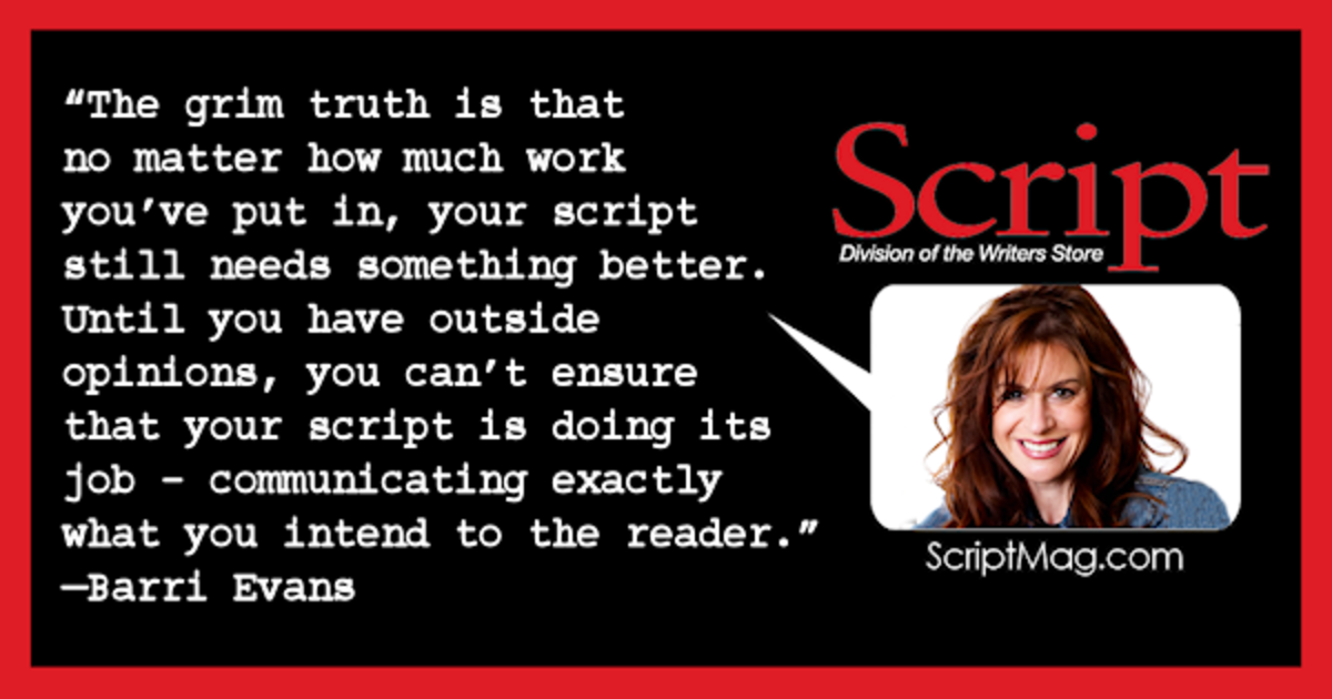 "Is your script ""good enough"" or is it ready to go out into the world? Barri Evins' pointers on pushing past good enough writing to make your work impressive. #scriptchat #screenwriting"