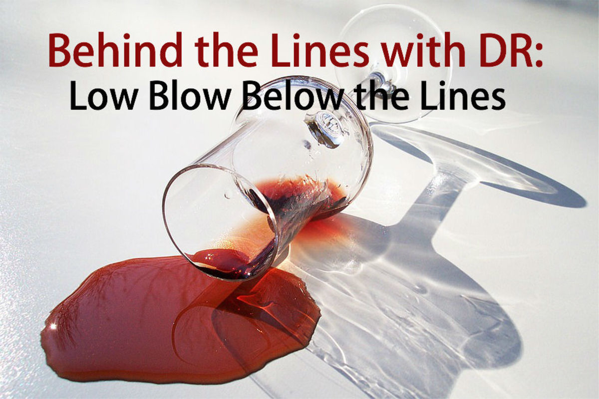BEHIND THE LINES WITH DR: Low Blows Below the Line by Doug Richardson | Script Magazine #scriptchat #screenwriting