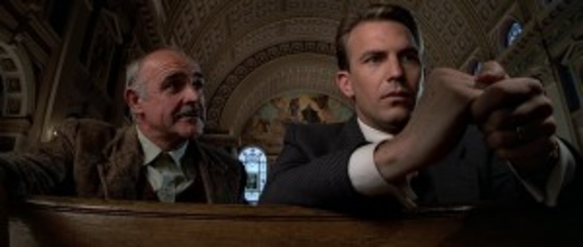 A crusty, older, beat cop teaches Elliot Ness how to bring down Al Capone in The Untouchables.