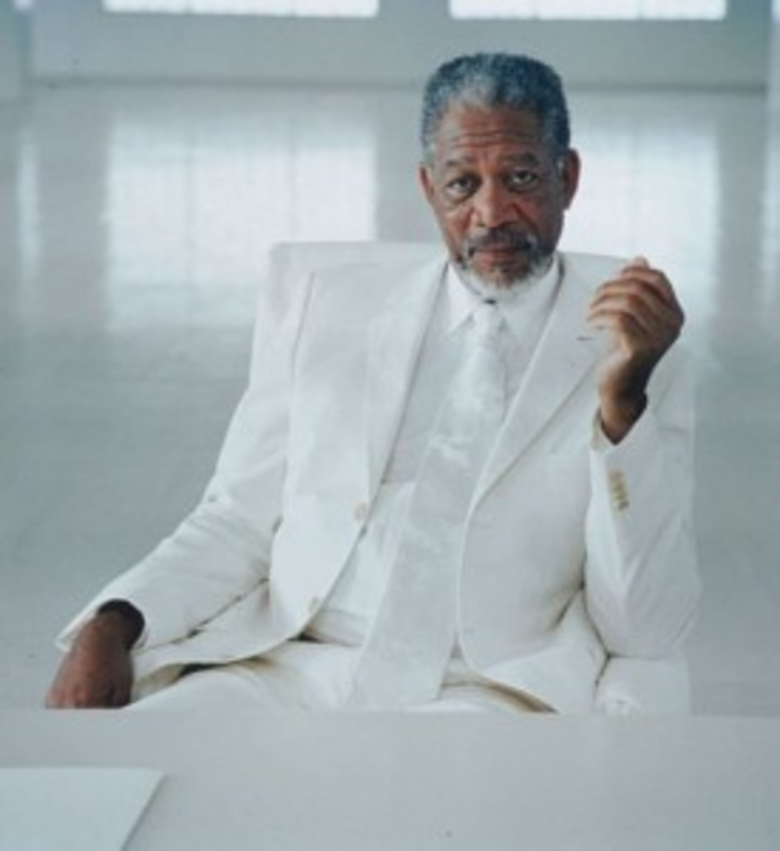 Morgan Freeman puts the Almighty in Bruce Almighty.