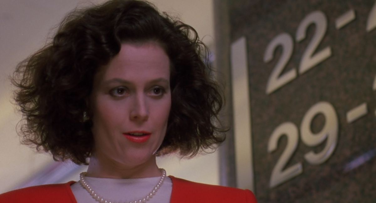 Katherine Parker steals her assistant's ideas and then takes credit for them in Working Girl.
