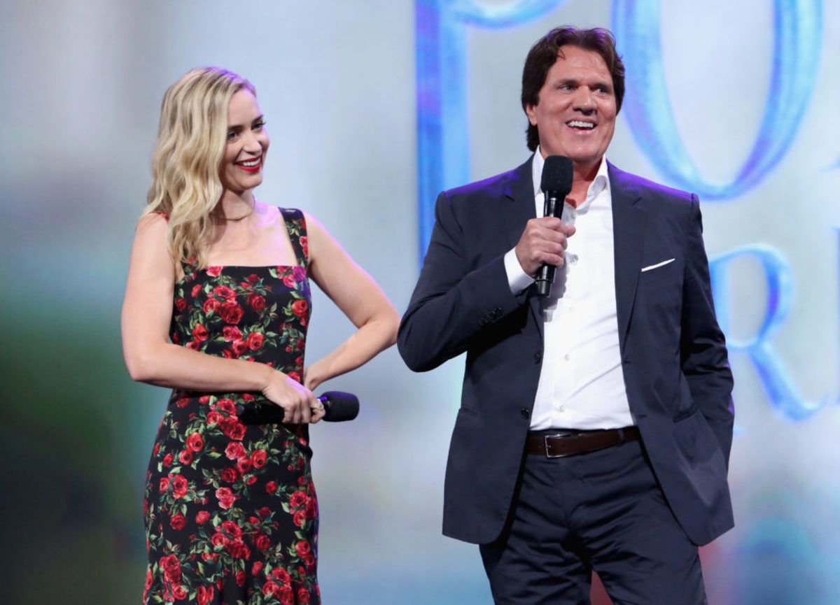 ANAHEIM, CA - JULY 15: Actor Emily Blunt and director Rob Marshall of MARY POPPINS RETURNS took part in the Walt Disney Studios live action presentation at Disney's D23 EXPO 2017 in Anaheim, Calif.