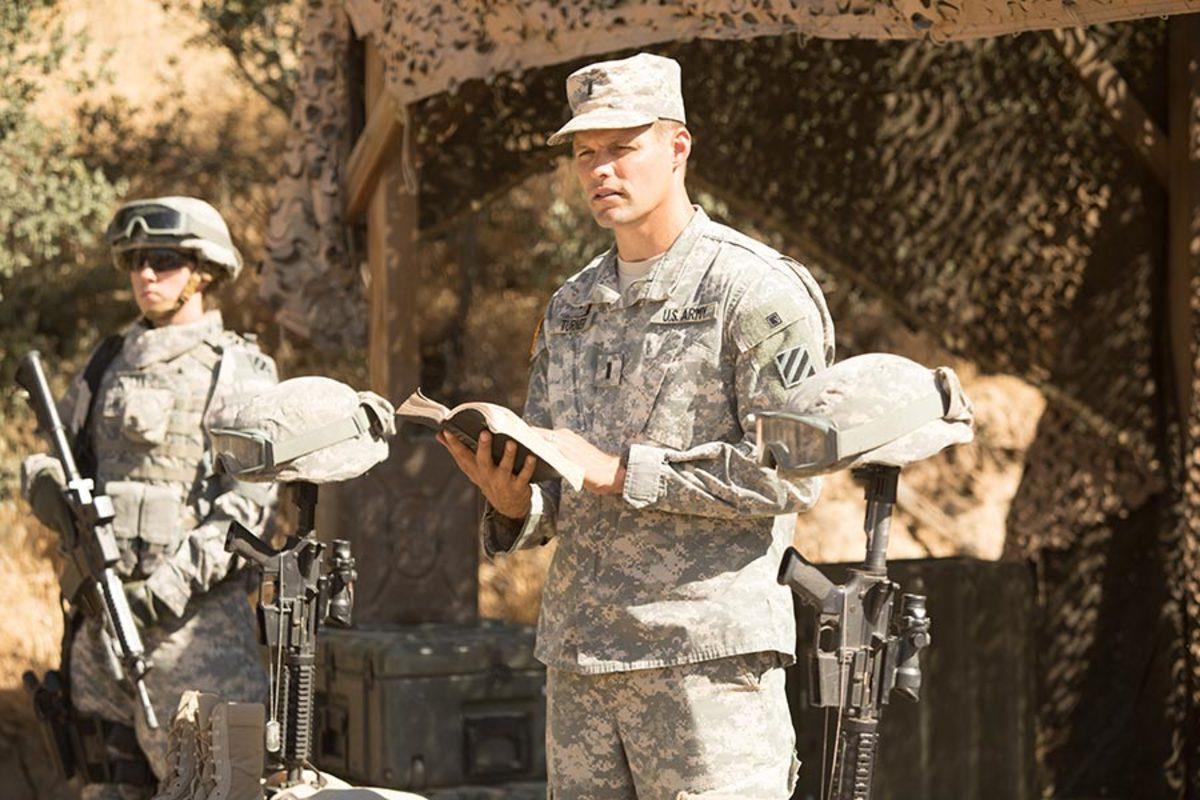 Justin Bruening stars as Army Chaplain Darren Turner