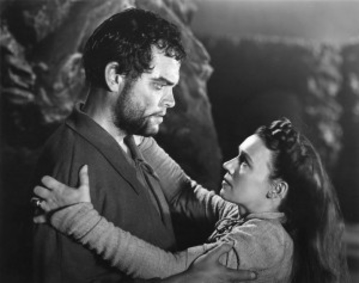 Double, double toil and trouble... Orson Welles and Jeanette Nolan in Macbeth.
