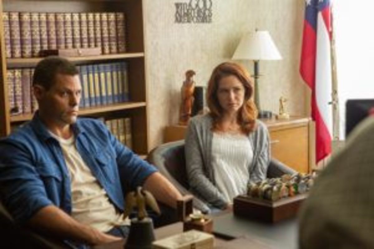 Justin Bruening and Sarah Drew in Indivisble as real-life couple Darren and Heather Turner