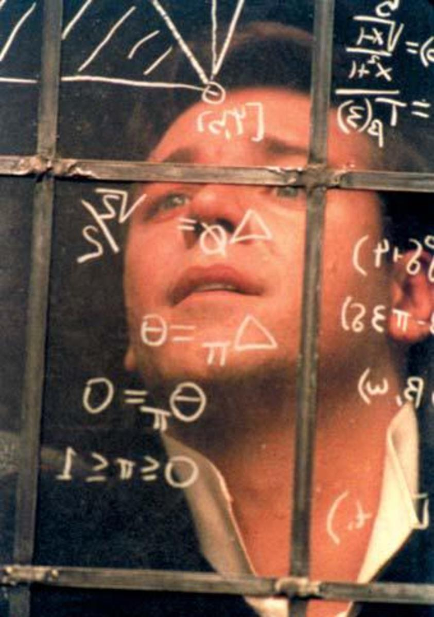 Russell Crowe in A Beautiful Mind, written by Akiva Goldsman
