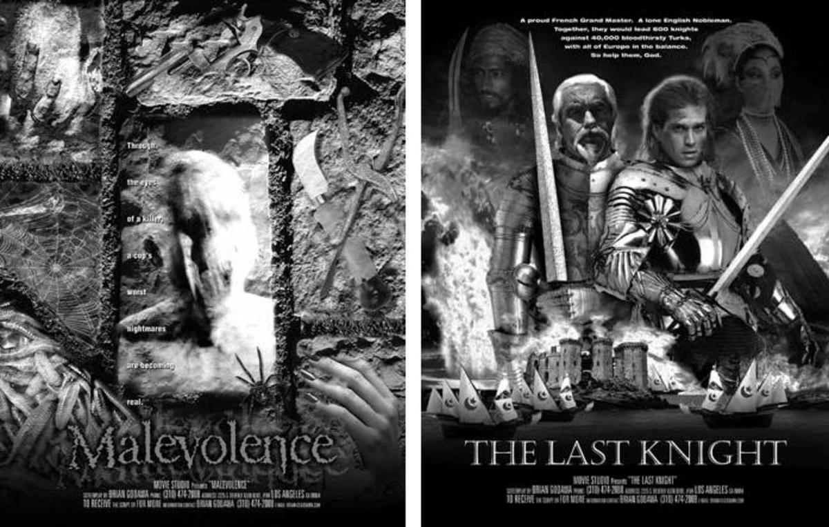 Screenwriter Brian Godawa designed one-sheets to take to Pitchfests.