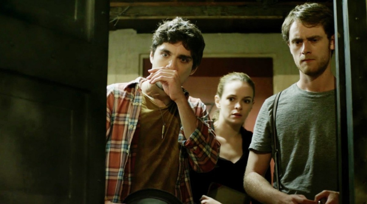 (l to r) George Finn as Jasper, Danielle Panabaker as Callie and Matt O'Leary as Finn in a scene from TIME LAPSE, directed by Bradley King. PHOTO: XLrator Media
