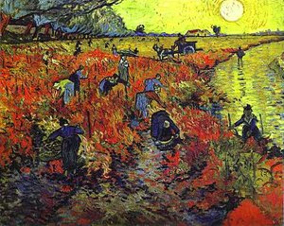 ed Vineyard at Arles The Vigne Rouge