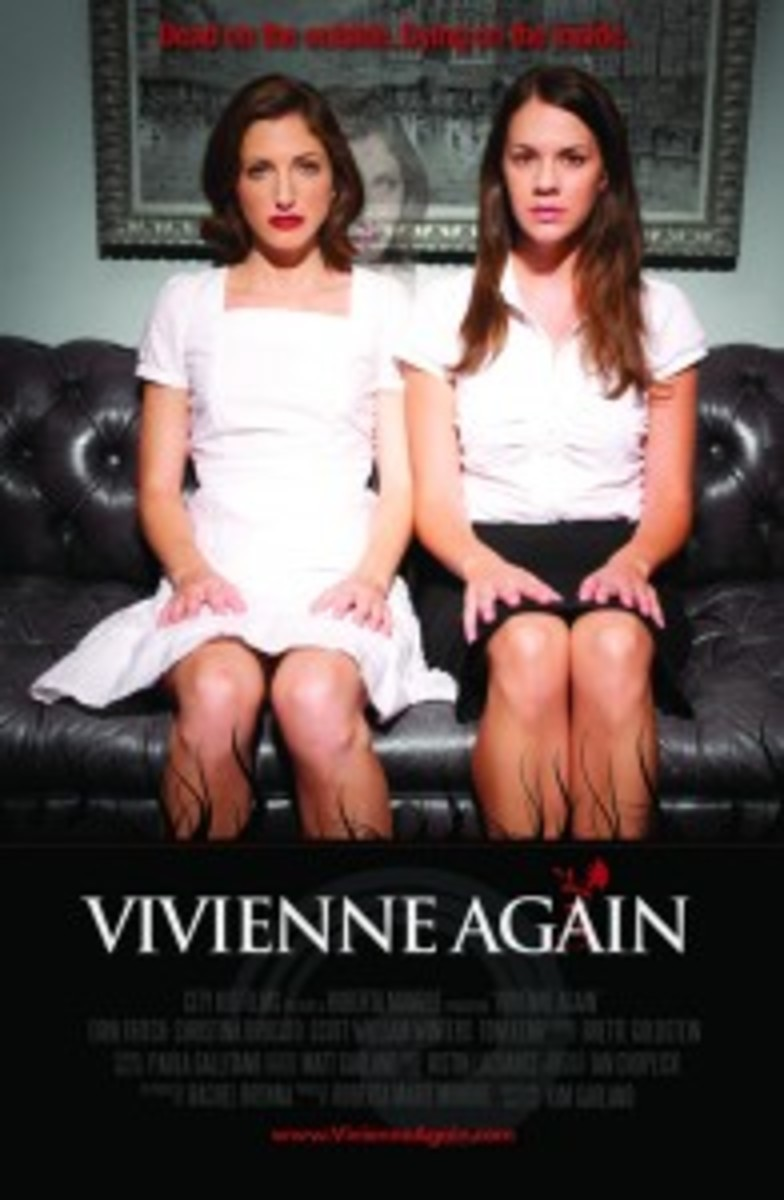 "Poster for ""Vivienne Again"" created using photos shot specifically for the poster during production."