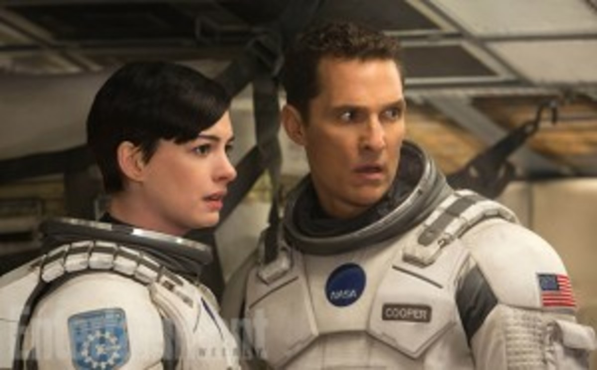 Brand (Anne Hathaway) and Cooper (Matthew McConaughey). The film ends with an interstellar quest by Cooper to find her -- his true love. Unfortunately, there is so much going on in the film that this subplot, like much else in the film, is undeveloped.