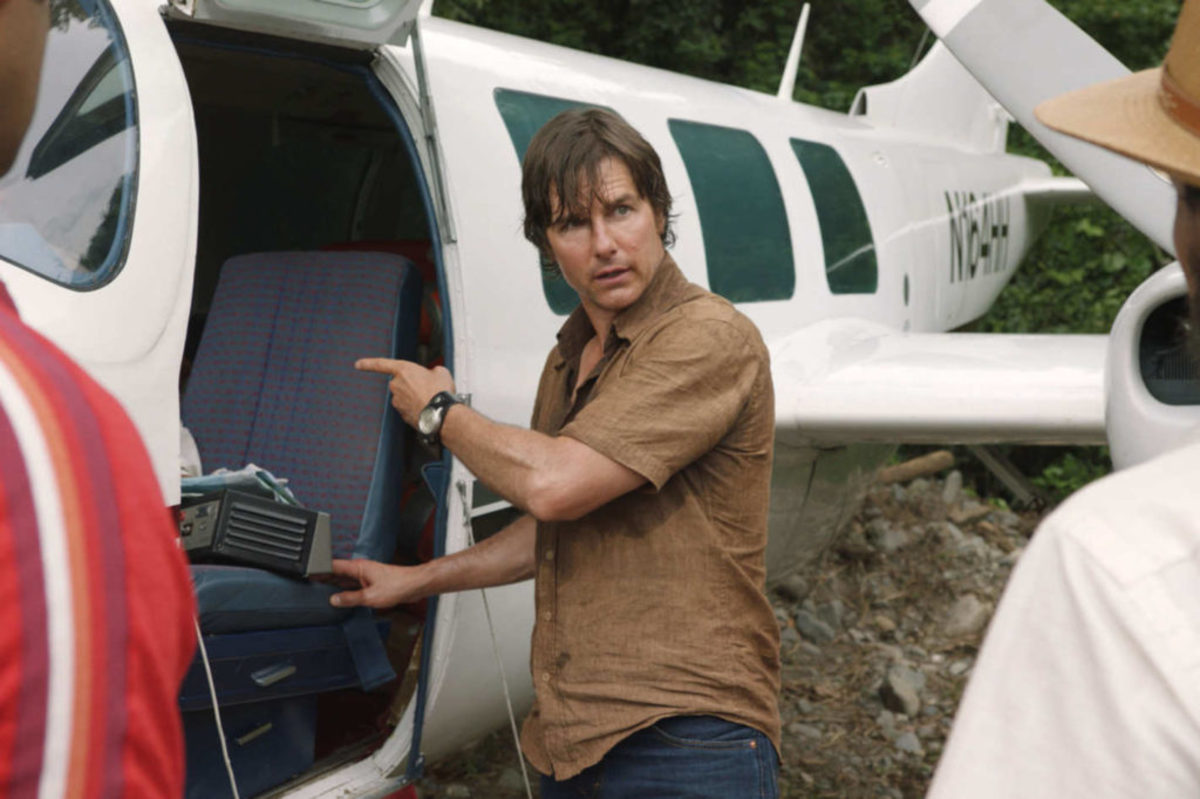 Tom Cruise as Barry Seale in American Made. Seale is an exciting, dynamic character, but why he takes the outrageous risks he takes is never explored. He simply does things.Cross Creek Pictures.