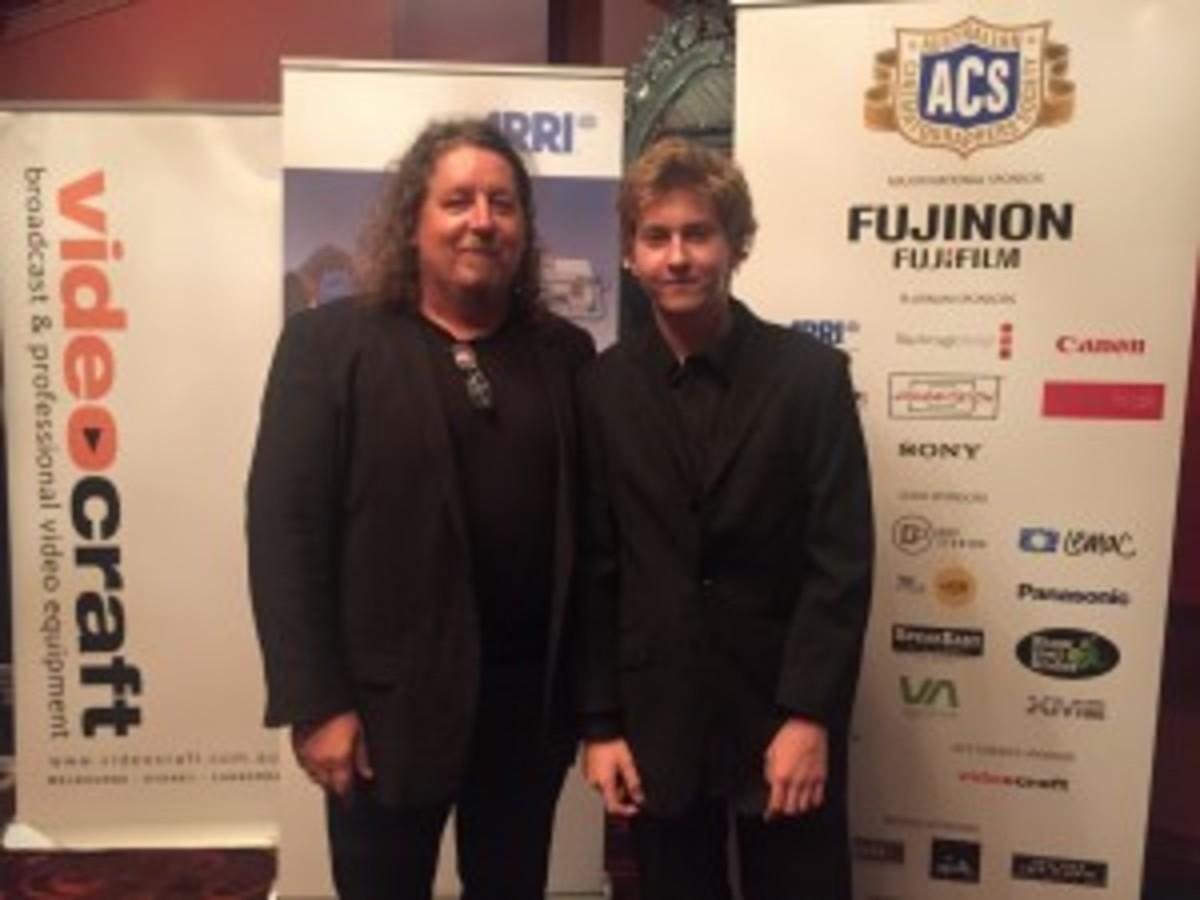 Director Joe D'Arcy and Gold Award Winner Director DP Byron D'Arcy