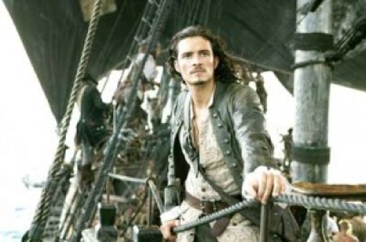 Orlando Bloom as William Turner in Pirates of the Caribbean.