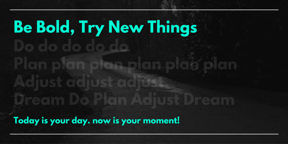 Be Bold, Try New Things, like new screenwriting resources