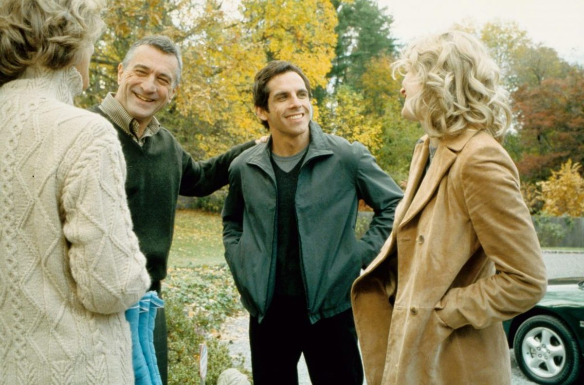 MEET THE PARENTS, Blythe Danner, Robert De Niro, Ben Stiller, Teri Polo.
