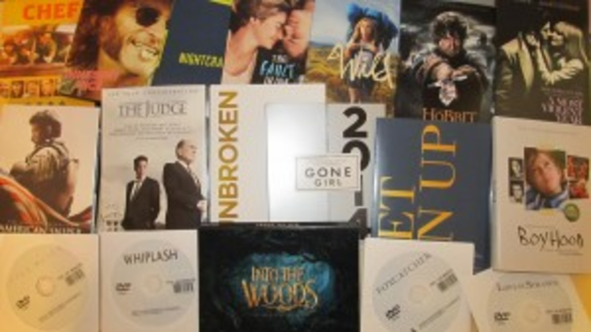 Some of the screeners sent to WGA writers in late 2014.