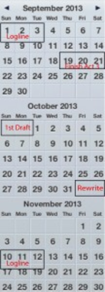Commit to writing your goals on your calendar