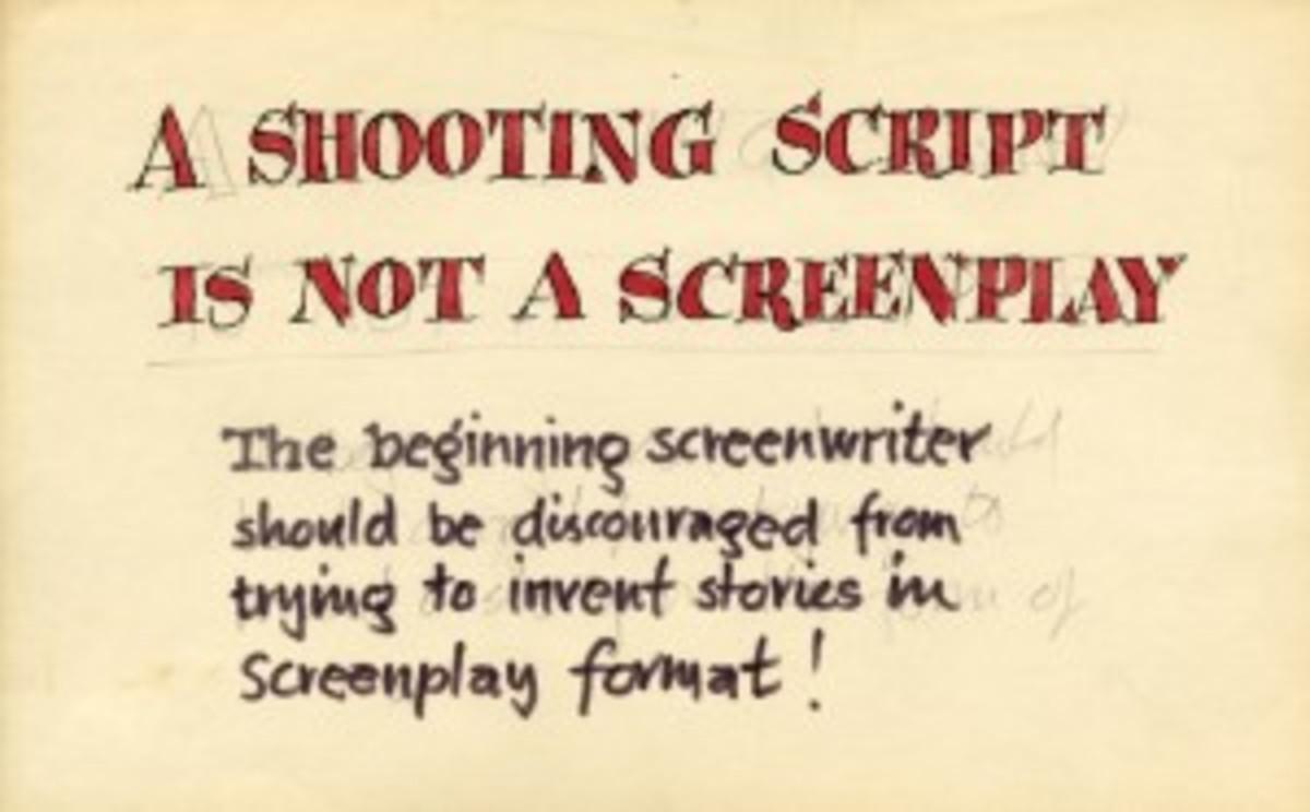 A shooting Script