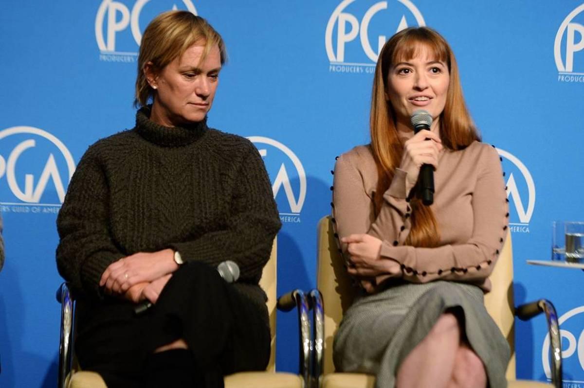 Anne Carey (L) Marielle Heller (R)