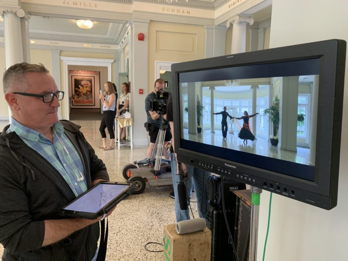 Chuck Girard, Script Supervisor on Set