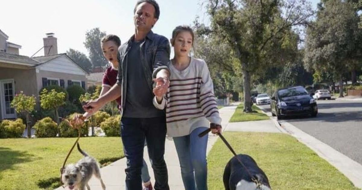 "Walton Goggins as a widowed father in CBS' ""The Unicorn"""