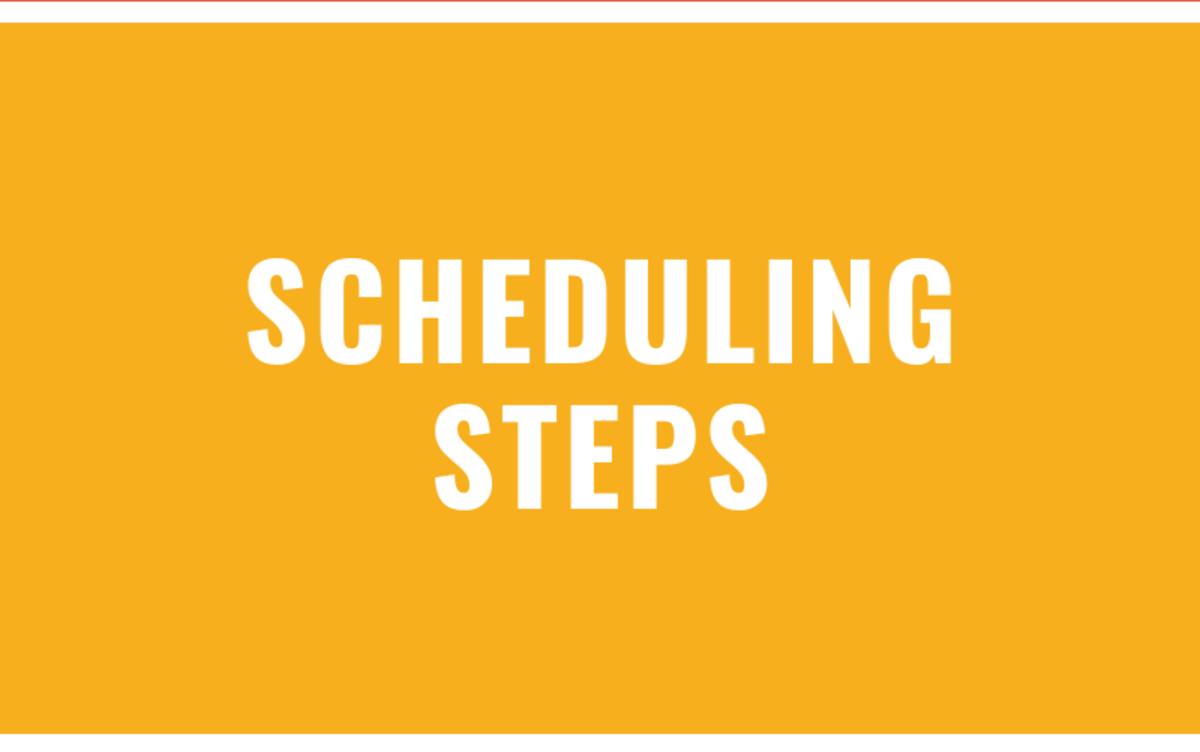 scheduling steps