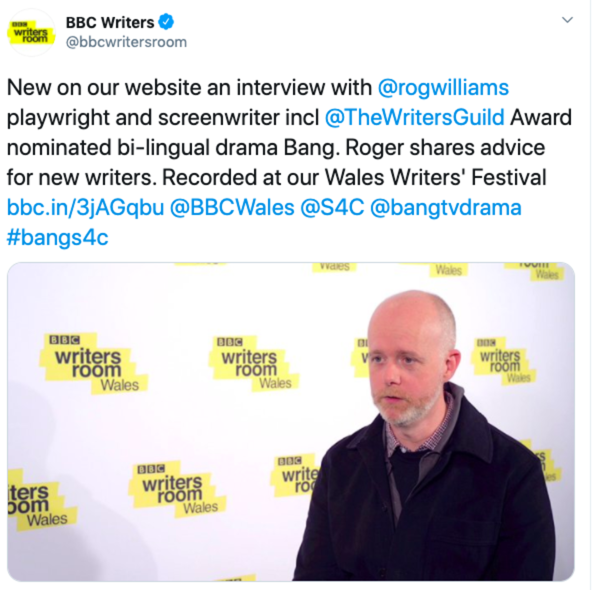 bbc twitter screenwriting tip roger williams