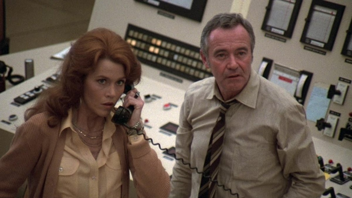 """Jane Fonda and Jack Lemmon in """"The China Syndrome"""" -"""