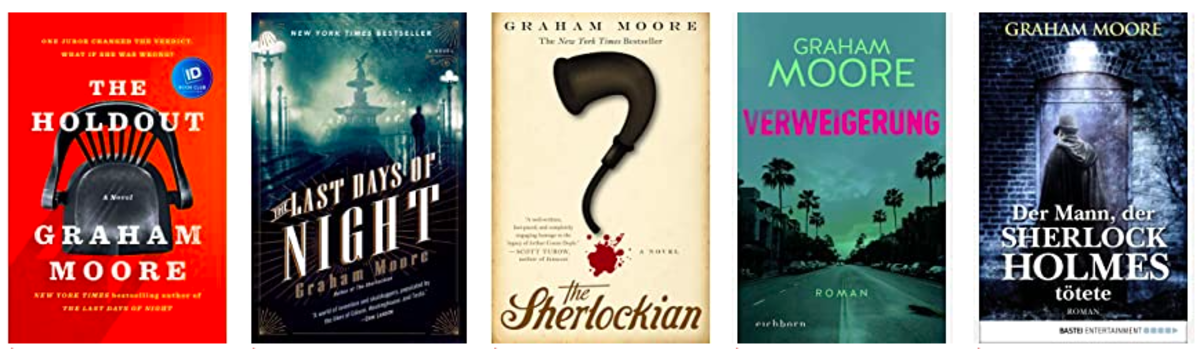 Novels written by Graham Moore