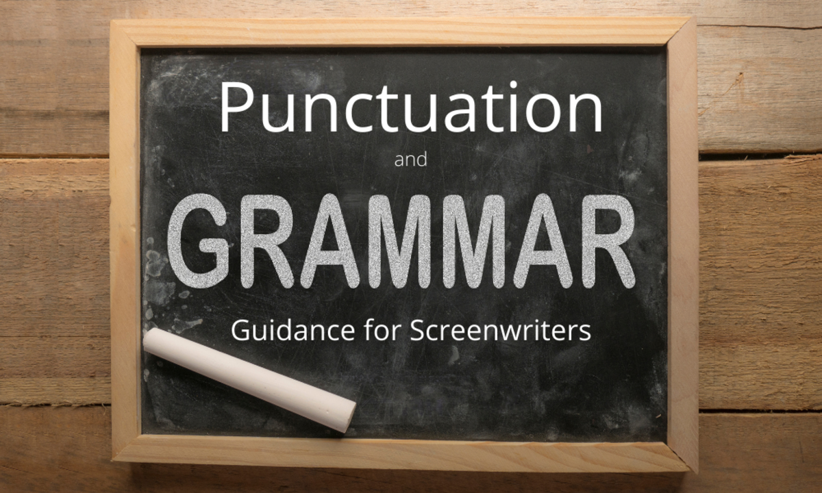 Punctuation Grammar Guidance for Screenwriters