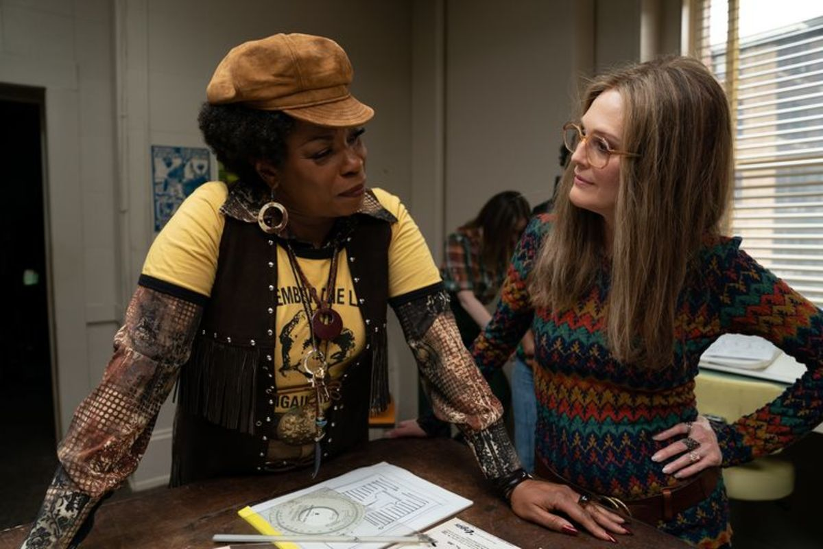 Lorraine Toussaint as Florynce Kennedy and Julianne Moore as Gloria Steinem.