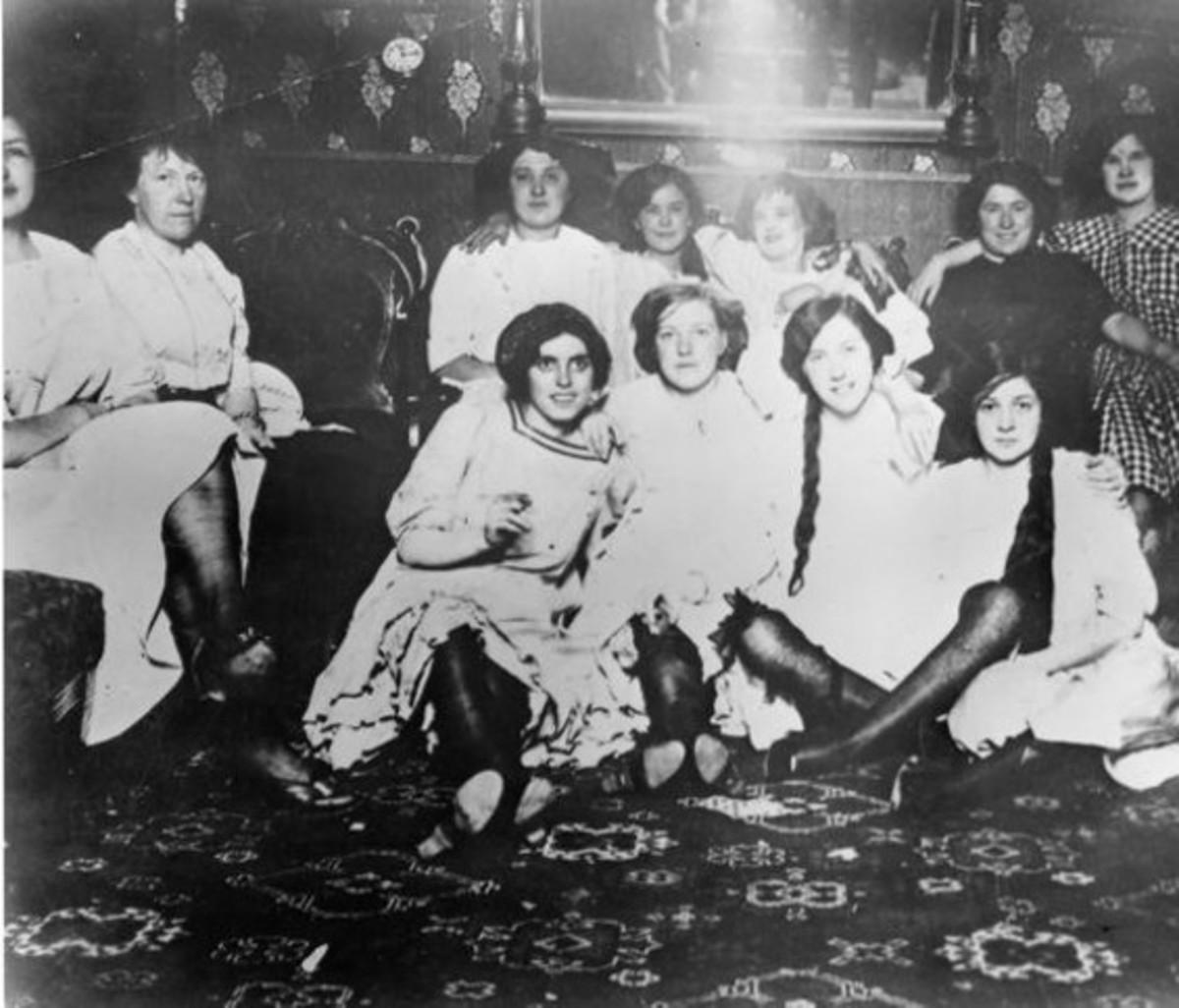 Women in an early San Francisco bordello