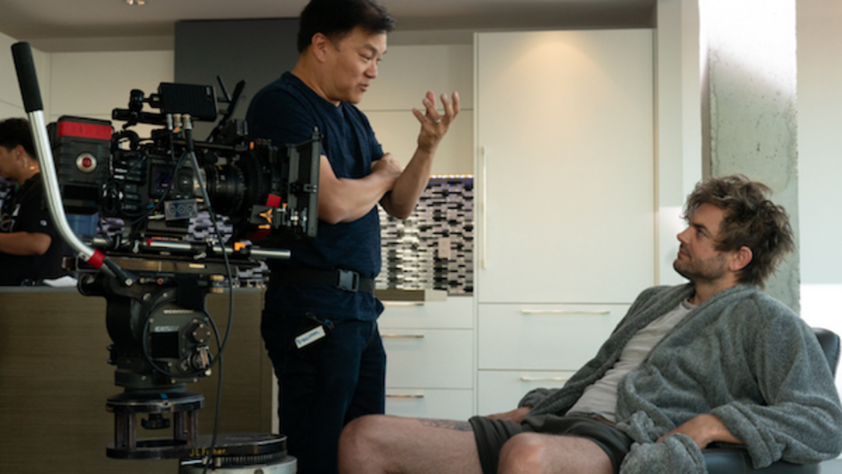Ken Mok Directing Nick Thune (Godfrey), Courtesy of Lionsgate Movies