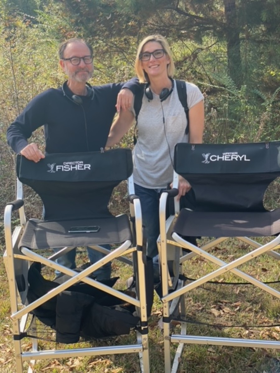 (L-R) Dir. Fisher Stevens and Cheryl Gurriero on set, Courtesy of Cheryl Guerriero