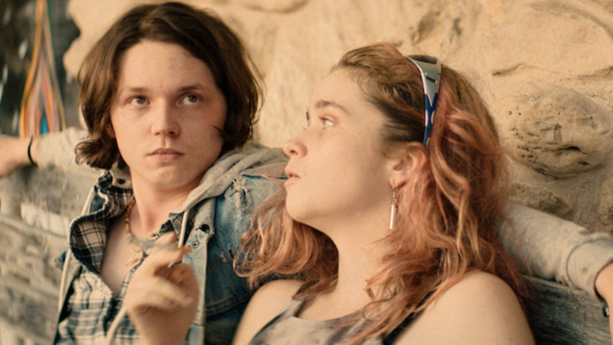 [L-R] Jack Kilmer as Utah and Alice Englert as Opal in the thriller BODY BROKERS, a Vertical Entertainment release. Photo courtesy of Vertical Entertainment.