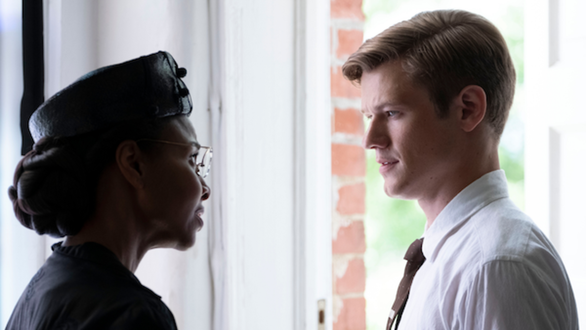 (L to R) Sharonne Lanier and Lucas Till in a scene from SON OF THE SOUTH, Courtesy Vertical Entertainment