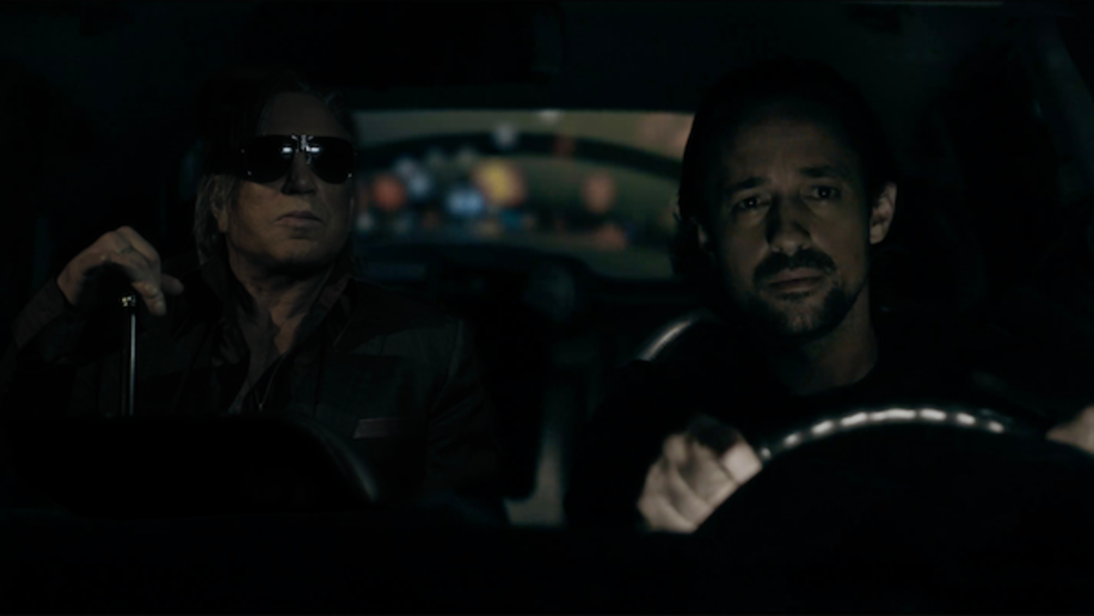 (L-R) Mickey Rourke as Kaden and Thomas Nicholas as Ethan in the action, crime, thriller, ADVERSE, a Lionsgate and Grindstone Entertainment Group, a Lionsgate Company release. Photo courtesy of Lionsgate.