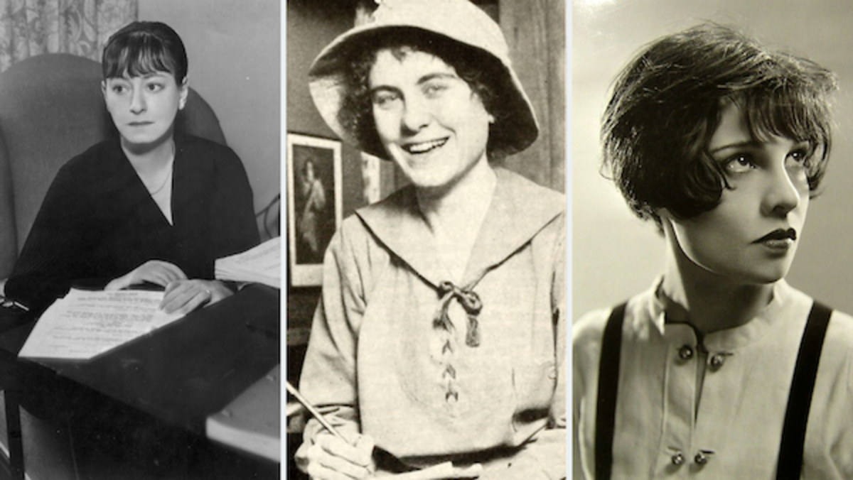 (L-R) Dorothy Parker, Jeanie Macpherson and Anita Loos