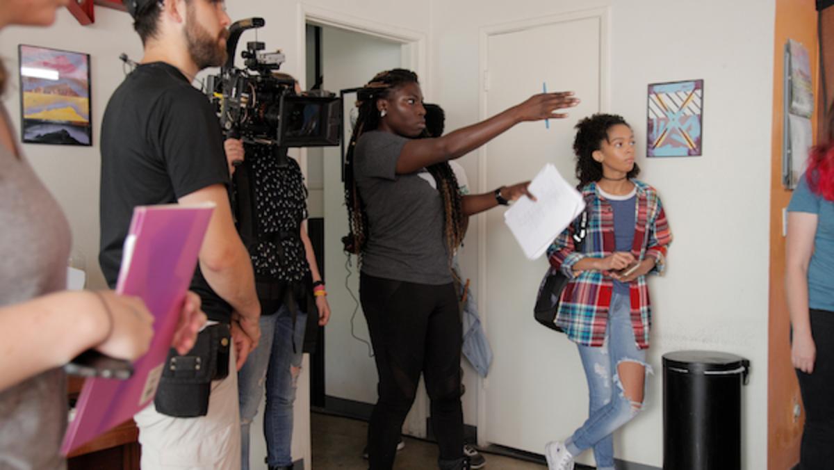 Bola Ogun on set 'Are We Good Parents', Courtesy of Bola Ogun