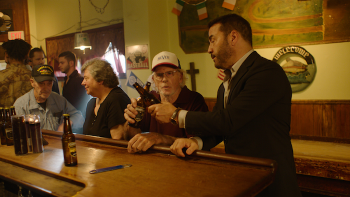 """Bruce Dern as """"Coach"""" and Jeremy Piven as """"Mick"""" in Paolo Pilladi's LAST CALL. Courtesy of IFC Films. An IFC Films release."""