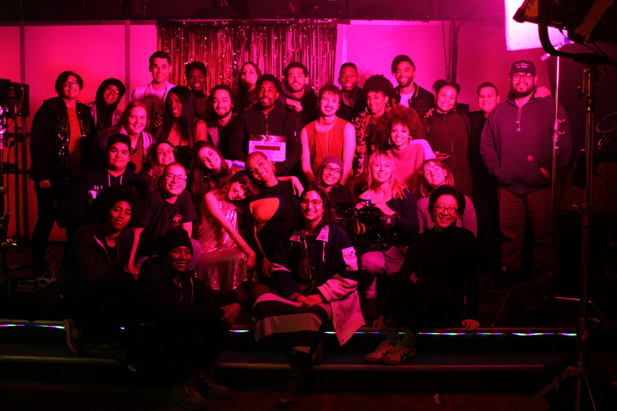 Cast and crew of THE RIGHT SWIPE. Photo credit: Gracie Meier