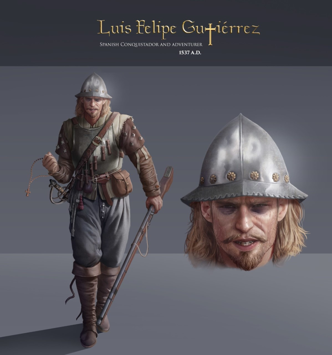 Luis Felipe Gutierrez: Doomed Conquistador, Peru, 1537 (illustrated)