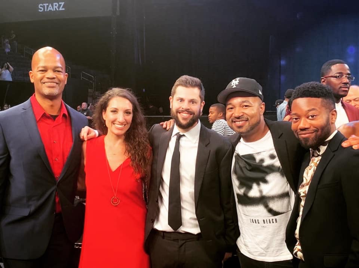"Charles [far right] at the premiere of ""Power"" (2019)"